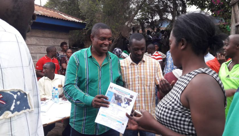 EACC INVESTIGATE; The Former Embakasi South Hon Musili Mawathe Distributing Bursaries With Campaign Photo. 1