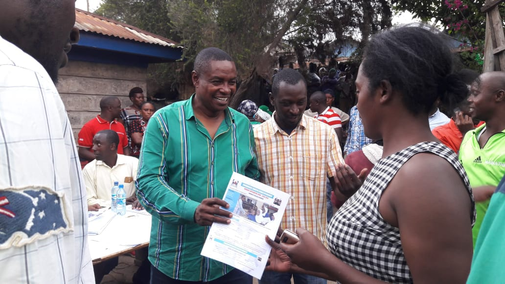 EACC INVESTIGATE; The Former Embakasi South Hon Musili Mawathe Distributing Bursaries With Campaign Photo. 10