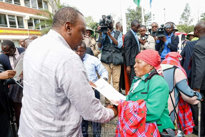 President Calls for Focus on Development as he Issues Title Deeds to Nyakinyua group Nakuru. 3
