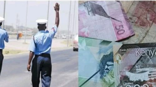 A EMBU MAN ESCAPES WITH DAY'S BRIBE FROM TRAFFIC POLICE. 1
