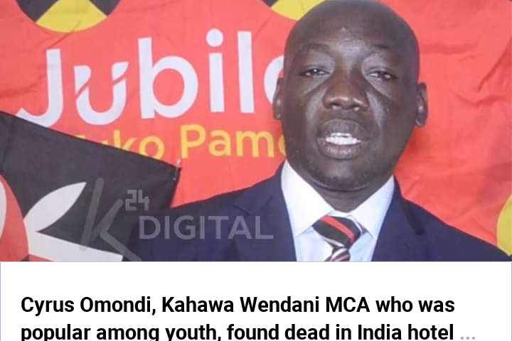 LATE KAHAWA WENDANI MCA'S BODY ARRIVES FROM INDIA. 2