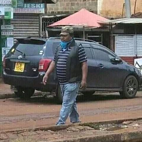 Ferdinand Waititu Spotted Walking Alone on The Streets Beclothe a Mask in Ndenderu town, Kiambu county. 1