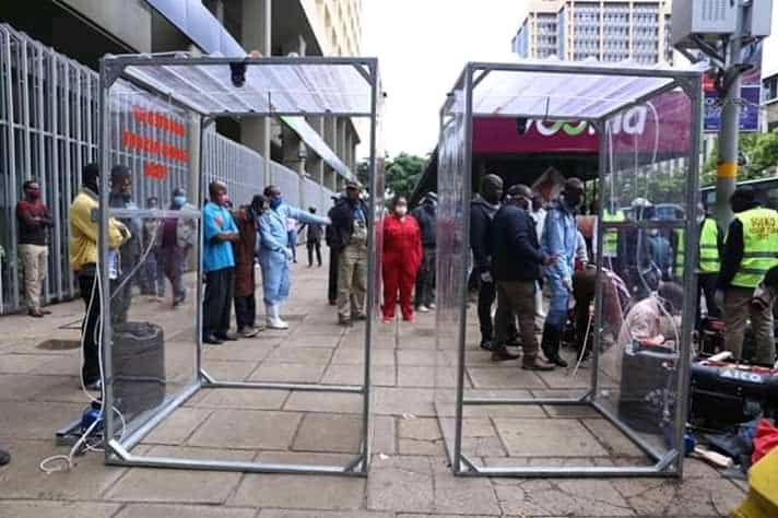 Nairobi Governor Mike Sonko Unveils 50 Spray Booths In Efforts To Keep Nairobi CitySafe From COVID-19. 1