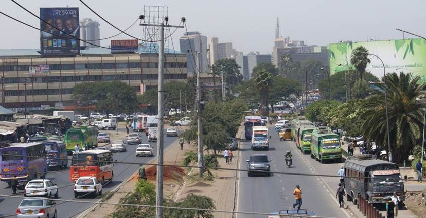 A section of Landhies Road in Nairobi. Ken Walibora was hit by a matatu while attempting to cross this road on April 10, 2020.FILE