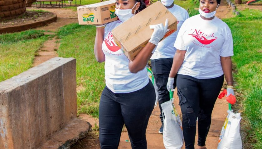 Rev Natasha puts Smiles To street Families with 3 month Food supply 7