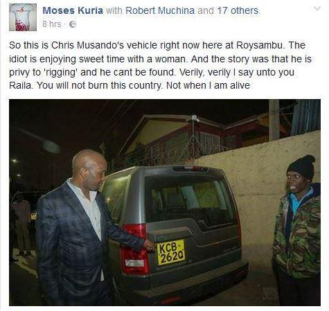 Moses Kuria In Put on More Problems After Naming Finally Chris Msando's Killers. 1