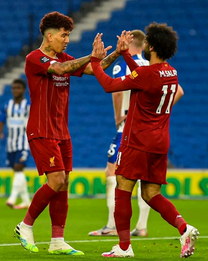 Salah strikes twice as the Reds hit three past Albion 4