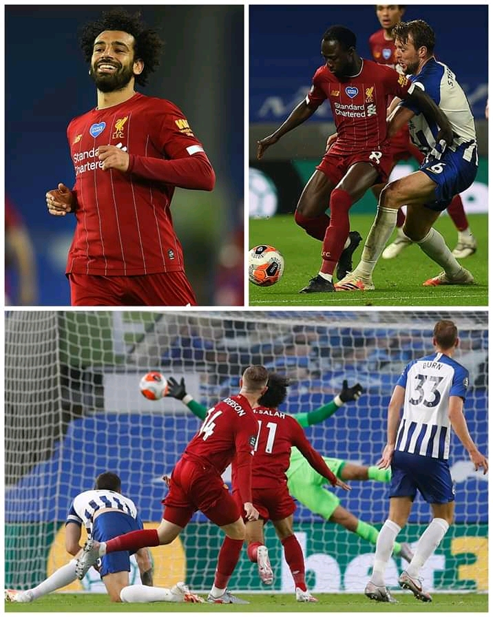 Salah strikes twice as the Reds hit three past Albion 3