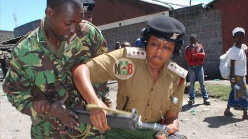 Nyamira County after a rogue police officer
