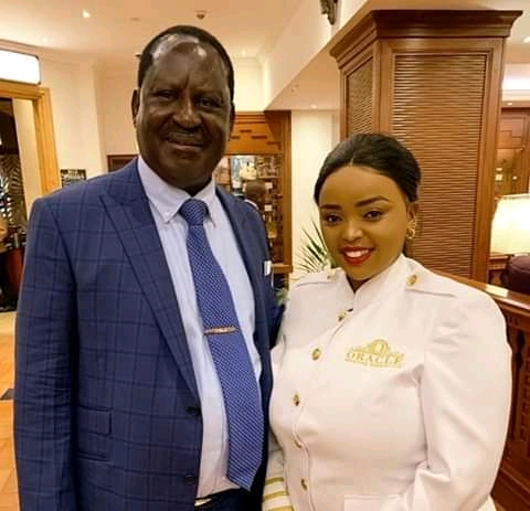 Rev Lucy Natasha moment with top Kenyan Government officials