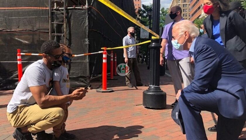 Joe Biden Kneels