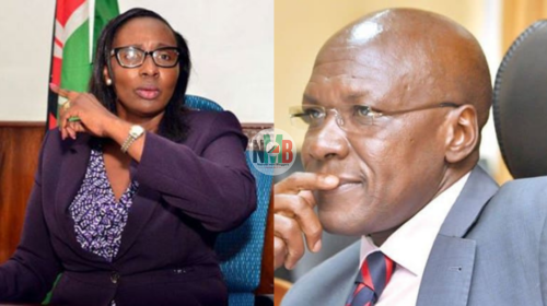 Drama as Boni Khalwale Exchanges words With Beatrice Elachi Over BBI Report -VIDEO