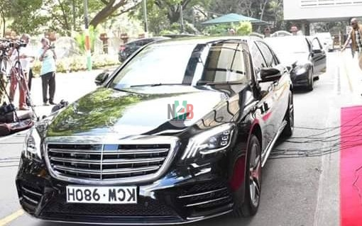 Presidential Motorcade an Upside Down Number Plate