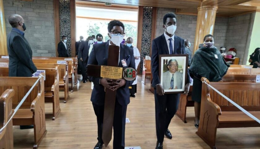 Chief Justice Evans Gicheru Burial.