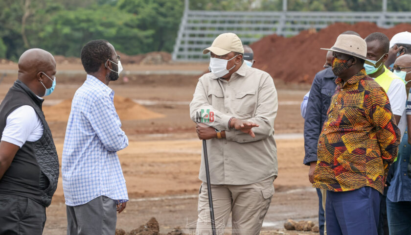 Uhuru Kenyatta today Inspected Several Ongoing Projects In Kisumu